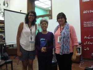 With Parinita Shetty and Lubaina Bandukwala, conspirators and organisers of the Children's section of KGAF 2014
