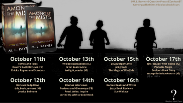 Amongst The Mists Book Tour Poster